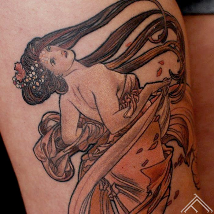 AlfonsMucha-Art-Nouveau-tattoofrequency-riga-tetovejums-