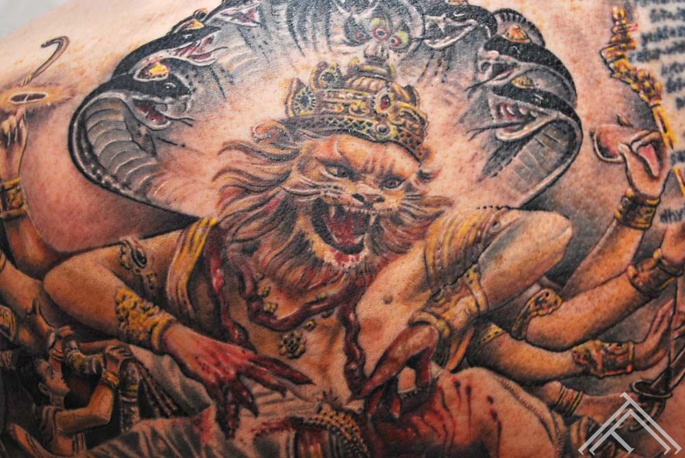 Sri Sri Narasimhadeva_tattoo_marispavlo_tattoofrequency