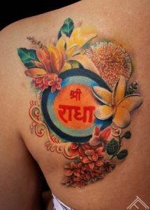 SriRadha-tattoo-champaka-kadamba-tulsi-flower-art-marispavlo-tattoofrequency-love