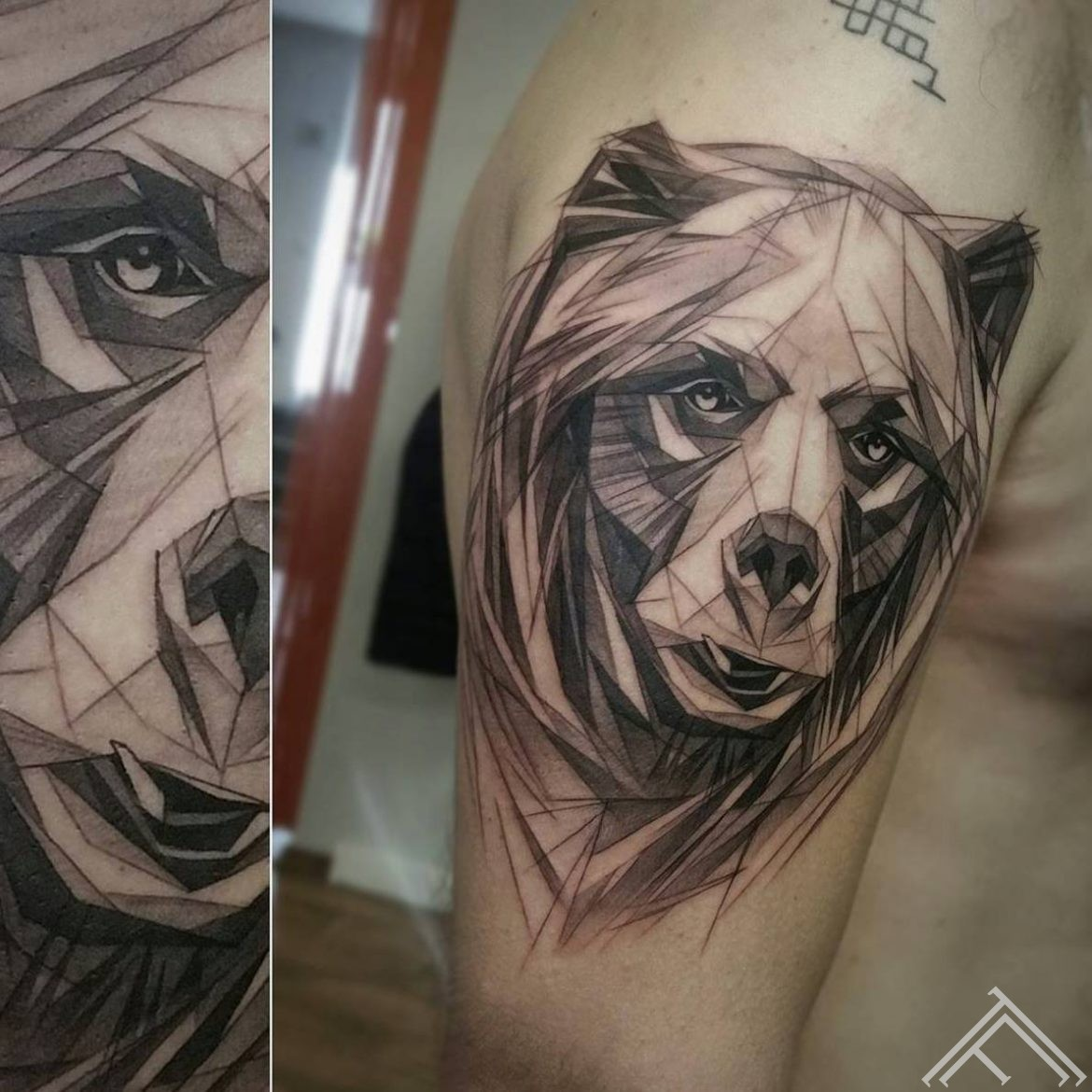 bear-lacis-geometric-sketch-skice-tetovejums-tattoo-riga-tattoofrequency-janissvars