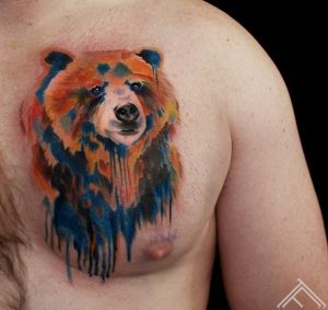 bear_colourfull_tattoo_ink_splash_tattoofrequency