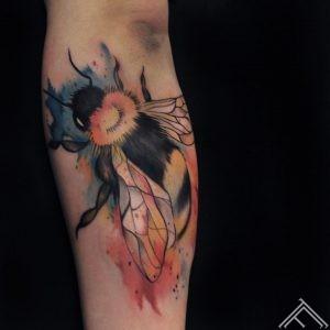 bee-kamene-kukainis-watercolor-tattoo-udenskrasas