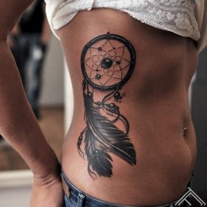dream catcher feathers tattoo martins silins tattoofrequency