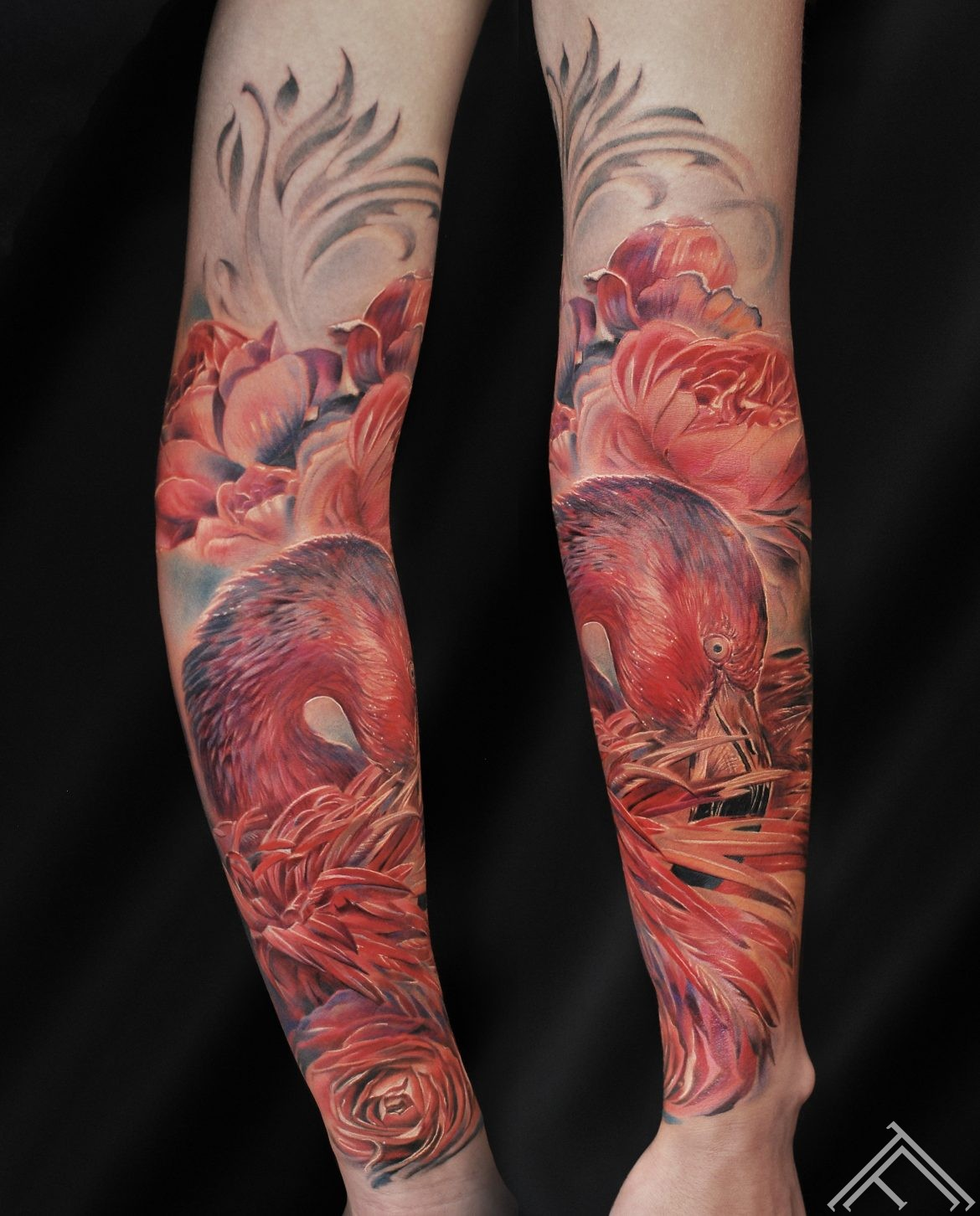 flamingo-bird-putns-roses-peony-ziedi-art-tattoo-tattoofrequency-riga-maksla