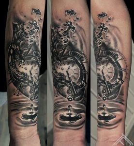 heart-water-waterdrop-time-clock-pocketwatch-bubble-tattoo-marispavlo-tattoofrequency-art-riga