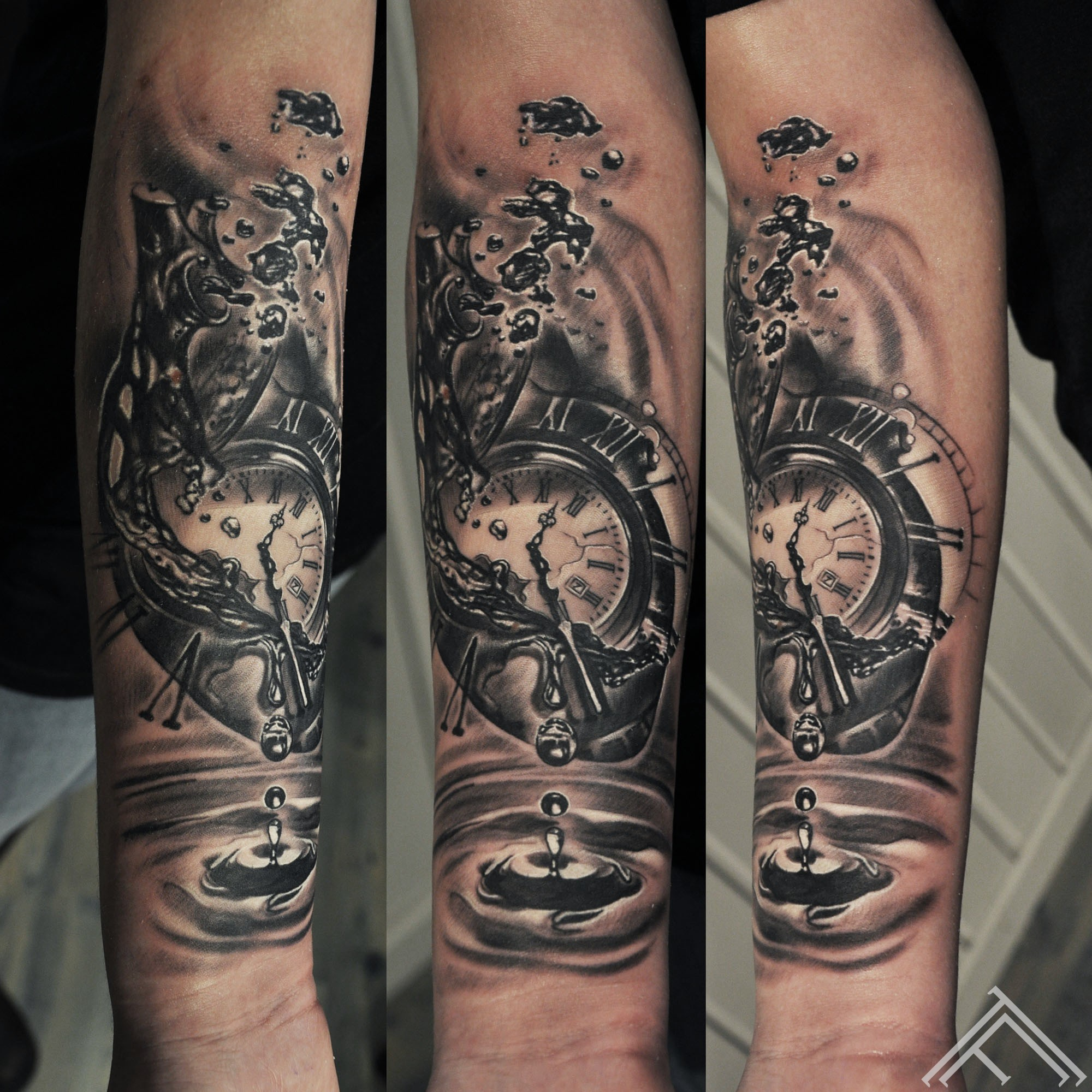 heart_water_waterdrop_time_clock_pocketwatch_bubble_tattoo_marispavlo_tattoofrequency_art_riga