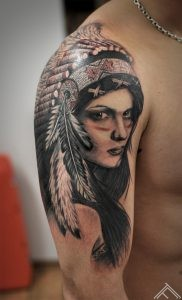indian girl tattoo janis anderson tattoofrequency riga studio normal