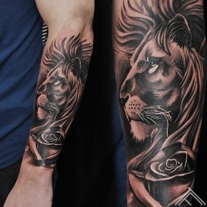 lion-rose-roze-lauva-tattoo-tetovejums-tattoofrequency-studija-salons-riga-art-martinssilins-maksla