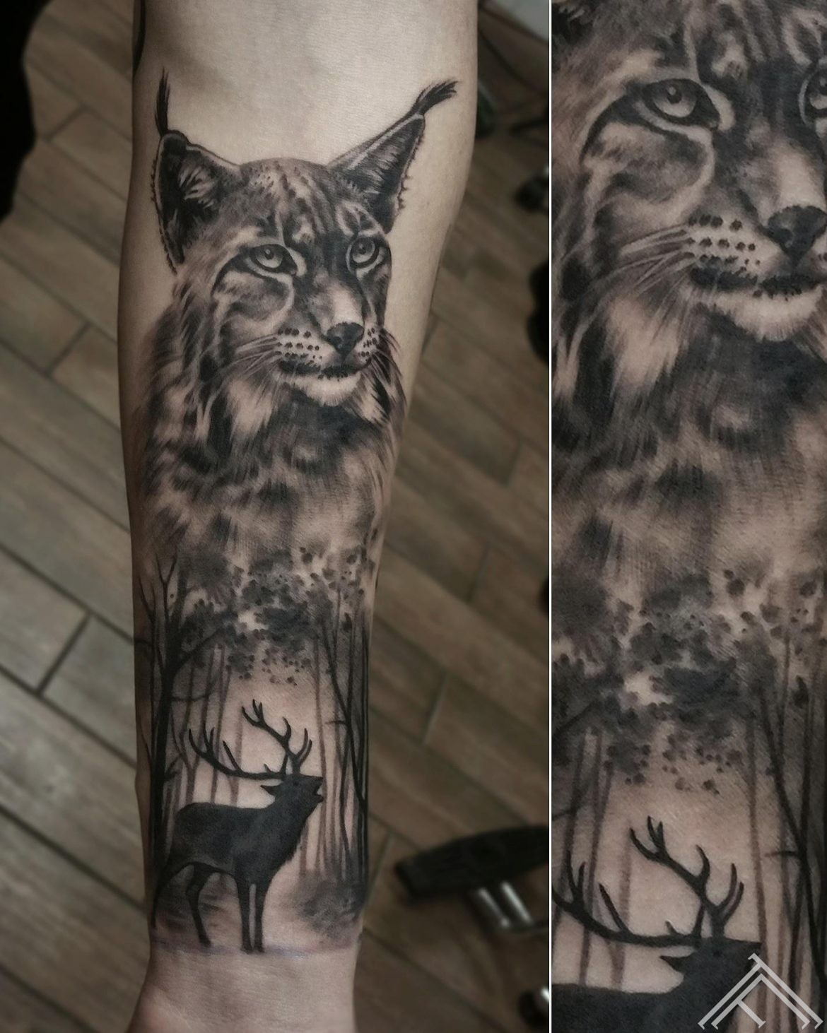 lusis-lynx-cat-kakis-briedis-tattoofrequency-forest-mezs-riga-tattoo-tetovejums-janissvars