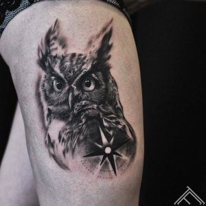 owl-compass-kompas-puce-tetovejums-tattoo-tattoofrequency-riga-latvija-johnlogan
