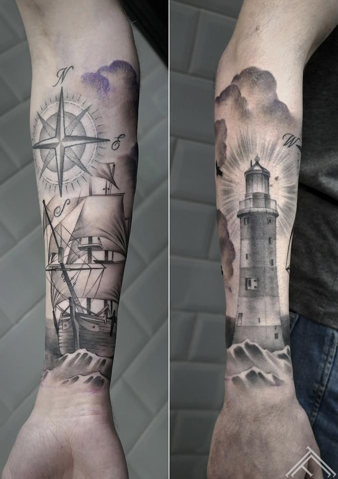 ship-sailing-oldship-sea-lighthouse-kugis-baka-tetovejums-tattoo-tattoofrequency-riga-art-janissvars