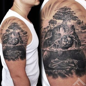 turttle-tree-world-pasaule-brunurupucis-koks-tattoo-tetovejums-tattoofrequency-riga-latvija-martinssilins