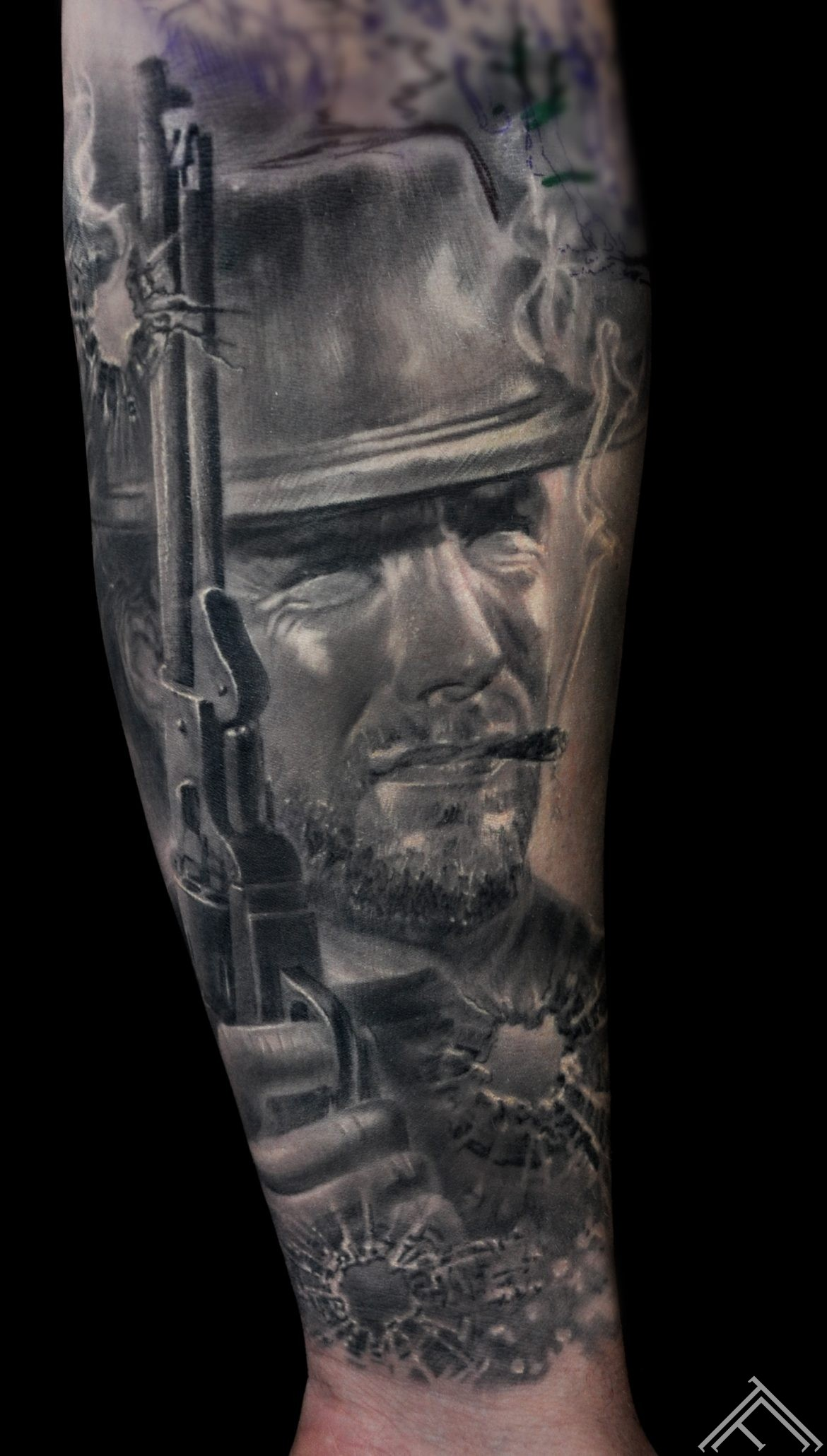 western-wildwest-horse-cowboy-ranch-zirgs-kovbojs-tetovejums-tattoo-tattoofrequency-art-riga-afistfulofdollars-clinteastwood