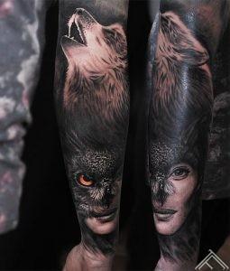 wolf-owl-woman-vilks-puce-portrets-sieviete-tetovejums-tattoo-tattoofrequency-riga-janisandersons