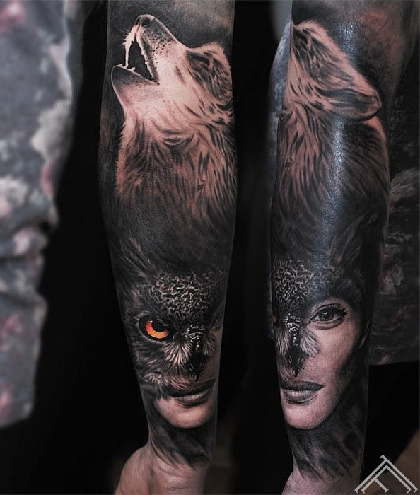 wolf-owl-woman-vilks-puce-portrets-sieviete-tetovejums-tattoo-tattoofrequency-riga-janisandersons
