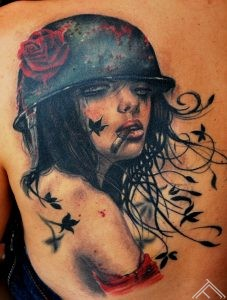 Brian_m_viveros_tattoo_marispavlo_tattoofrequency_smoke_sexy_woman_girl_army_rose_cigarette_art_rigatattoosaloon