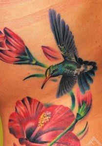 Hibiskus tattoo by Maris Pavlo 1