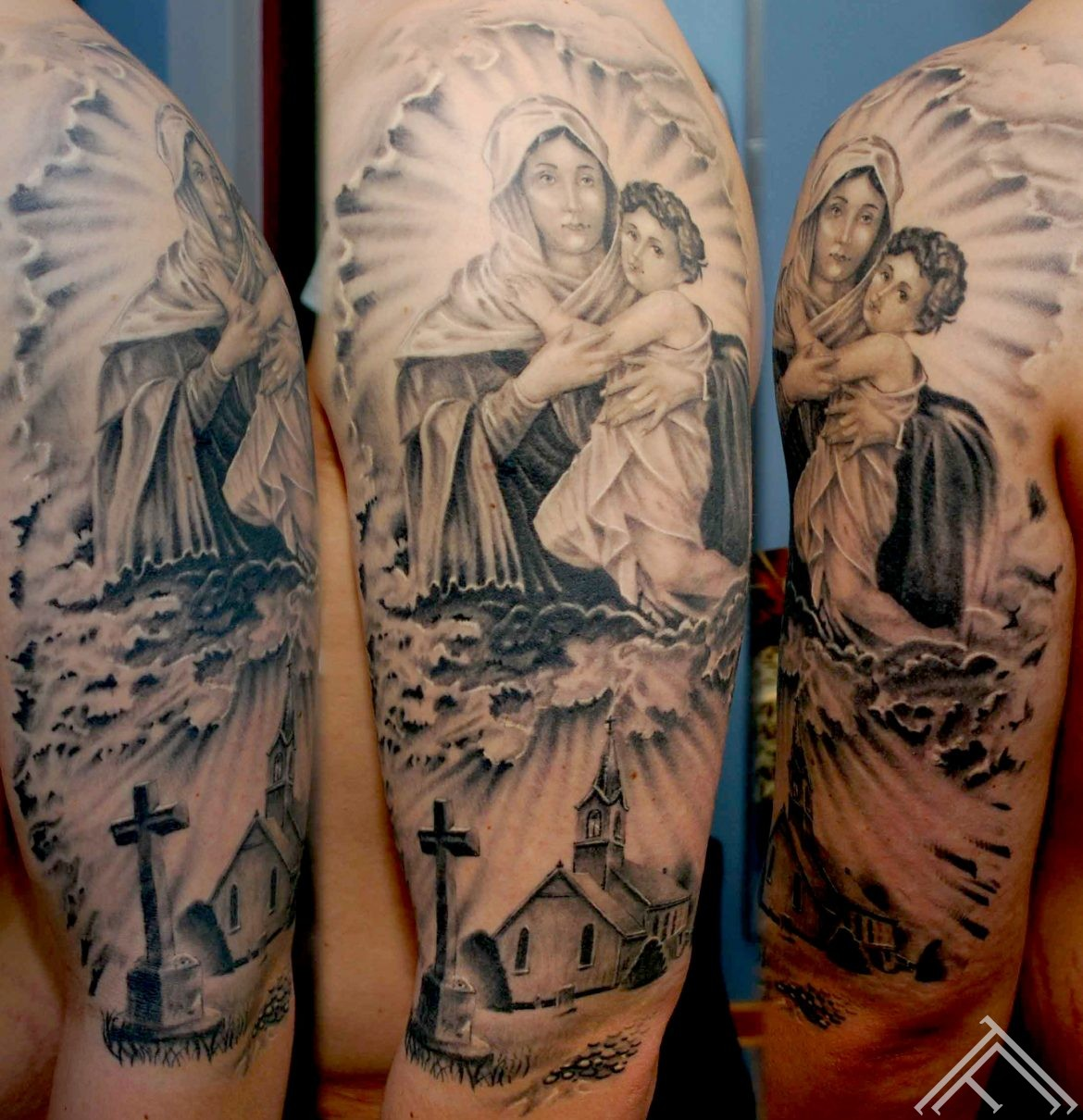 Holy Mary with child_maris pavlo_tattoo