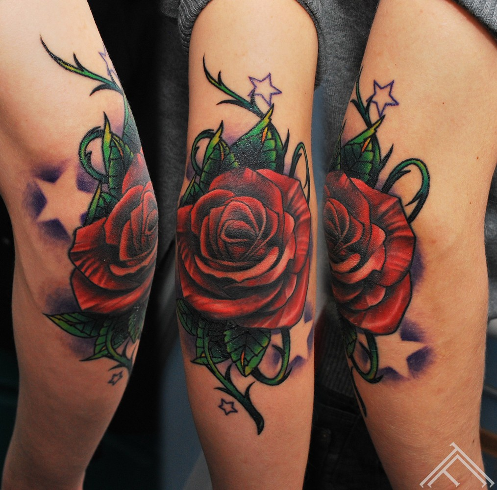 Rose_new school_tattoo_tattoofrequency_tattoostudio_riga