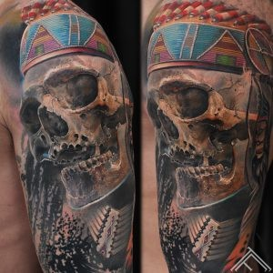 indian-native-skull-feather-indianis-