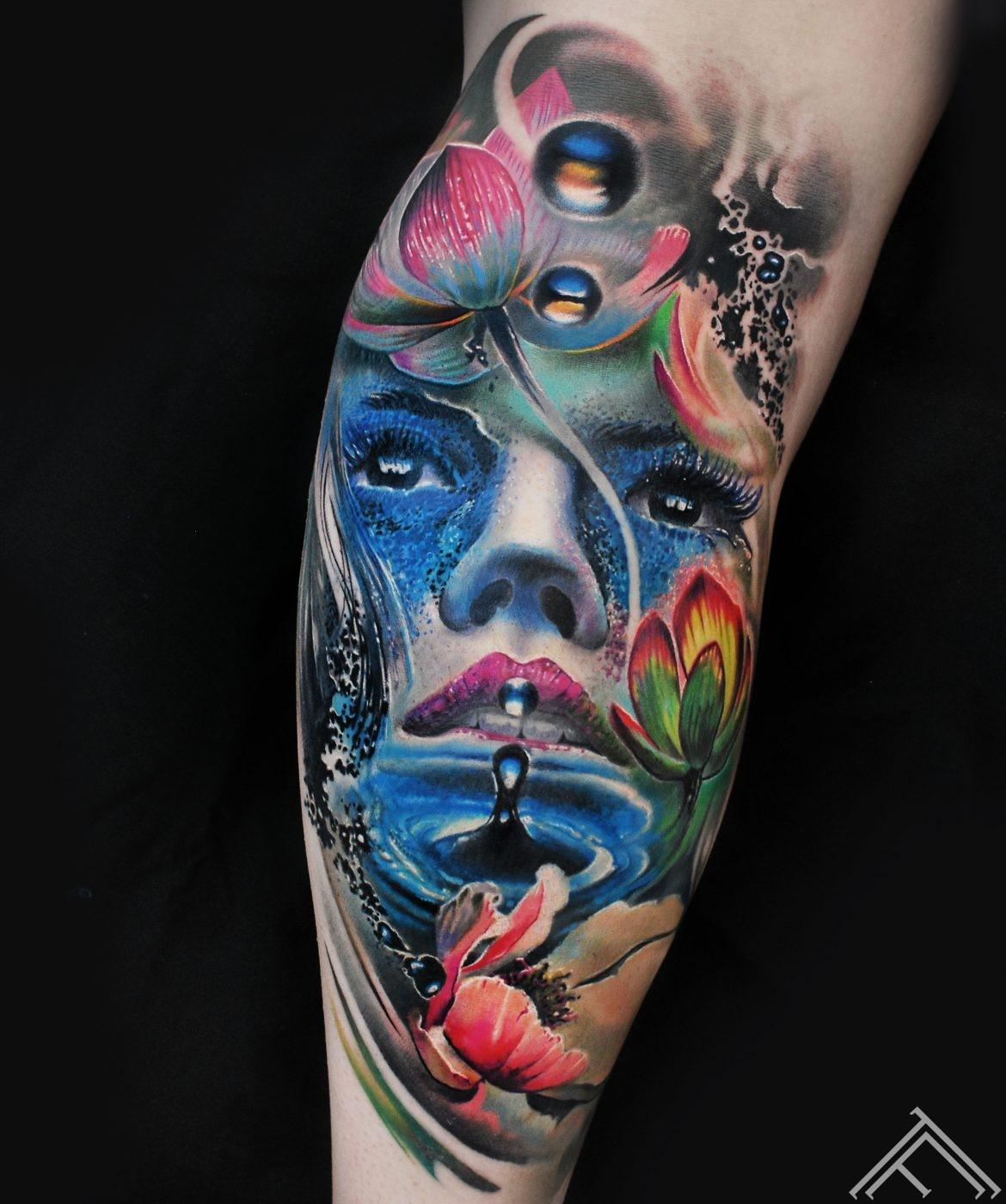 Maris pavlo gallery tattoofrequency tetovanas pakalpojumi watergirl waterdrop lotus lotos water flowers ziedi udens izmirmasajfo