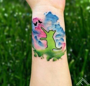 CAT in Splashes-tattoo-tattoofrequency-riga-dmitrijsrazins