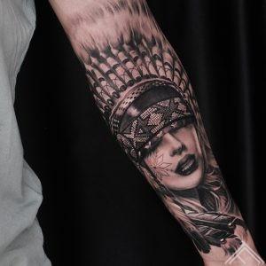 indian-tattoo-woman-tattoofrequency-native-auseklis-latviesuzimes
