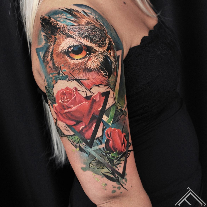 owl-rose-flowers-bird-tattoo-marispavlo-tattoofrequency-riga