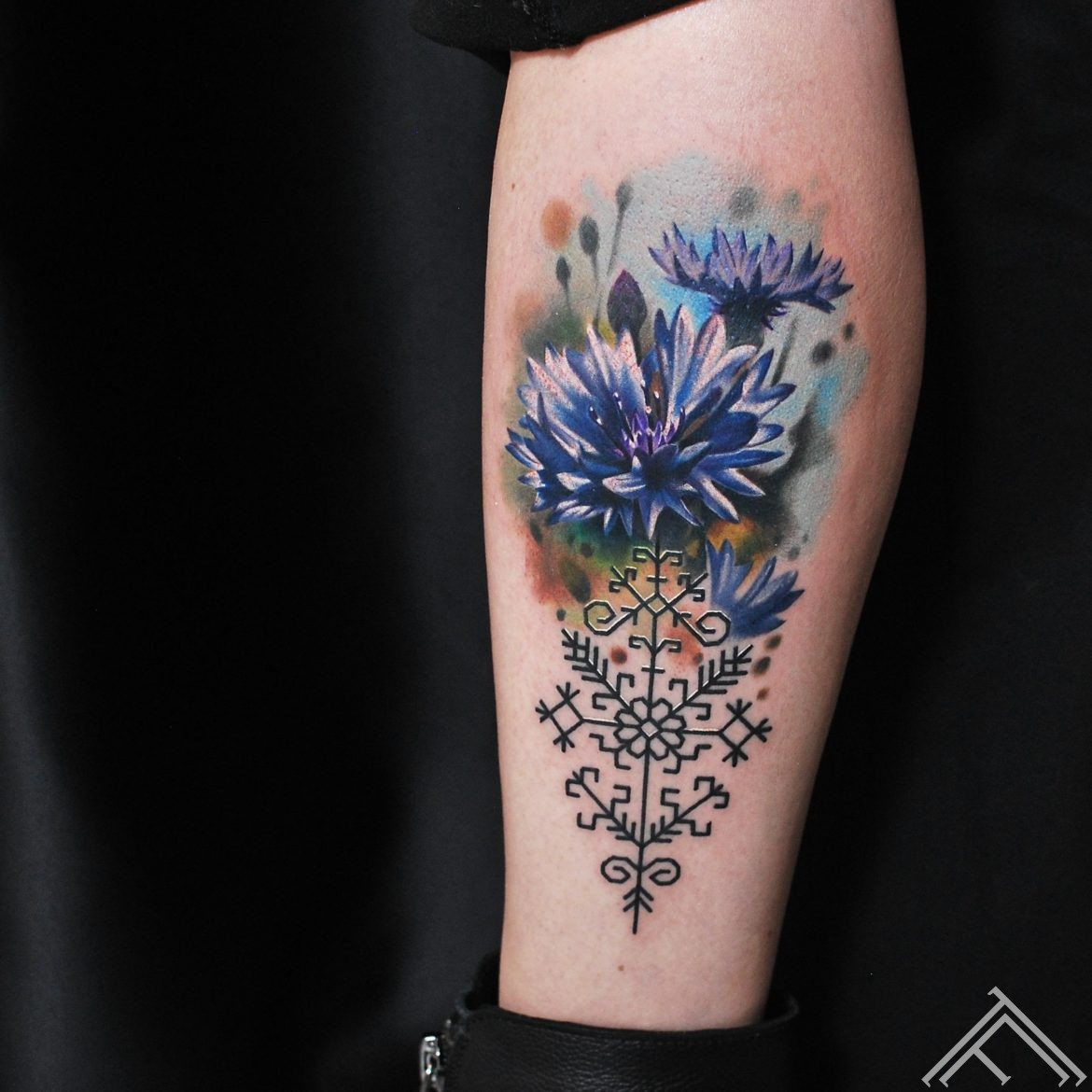 cornflower-flower-nature-martinssilins-tattoo-tattoofrequency-riga-art