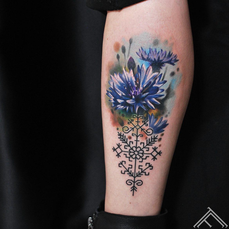 cornflower-flower-nature-martinssilins-tattoo-tattoofrequency-riga-art