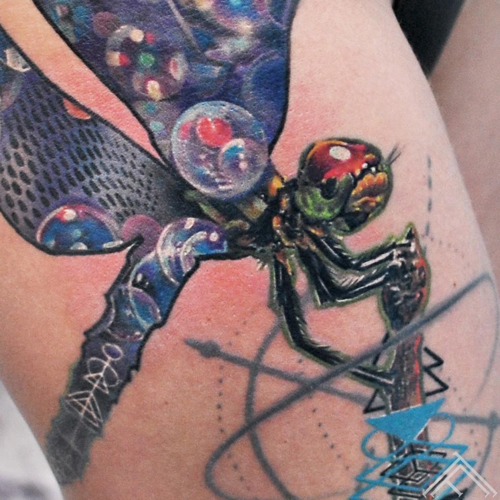 dragonfly-spare-bubble-burbuli-geometric-graphic-art-maksla-tattoo-tetovejums-tattoofrequency-riga-marispavlo-healed-close up