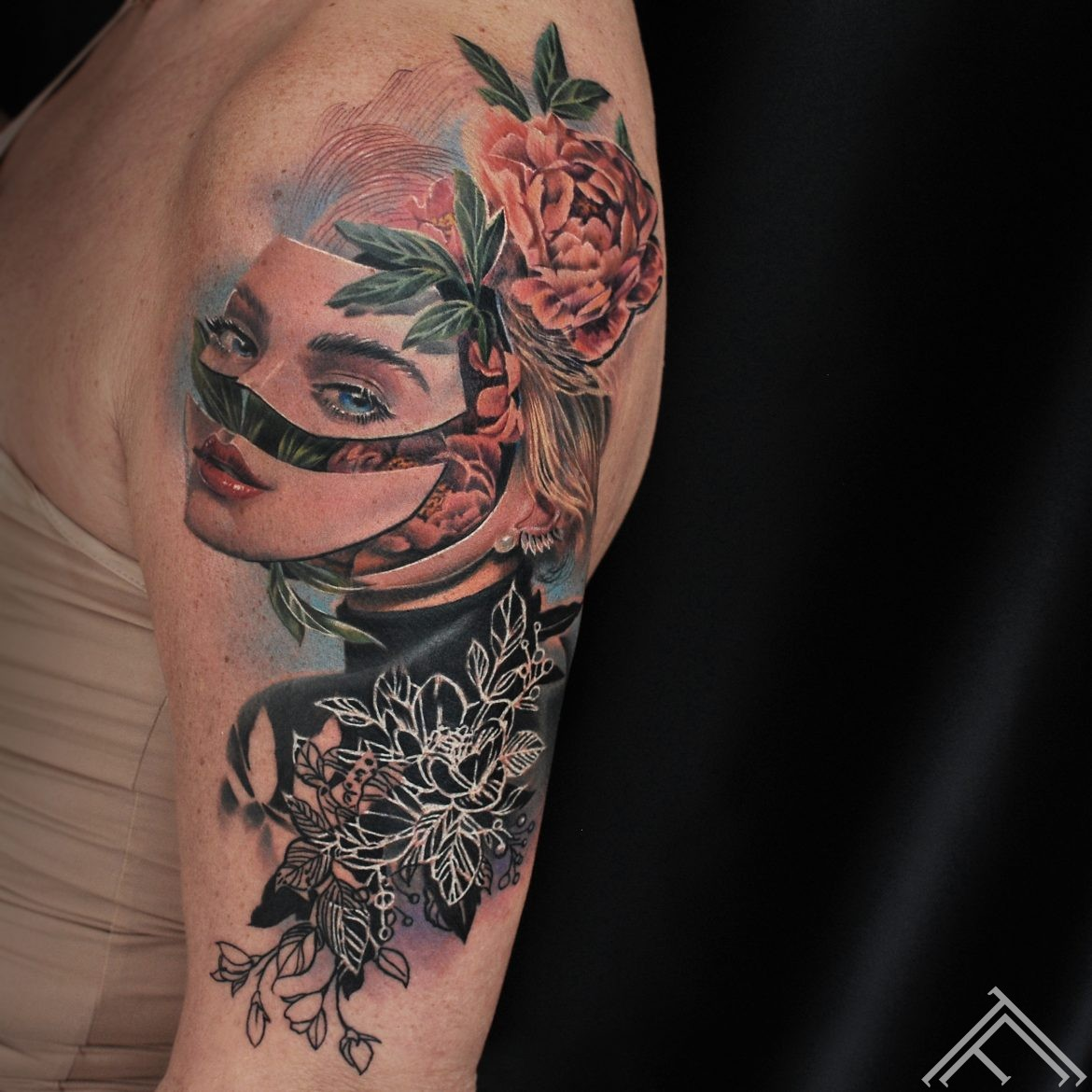face-peony-woman-portrait-mask-flowers-maska-ziedi-peonijas-tattoo-tattoofrequency-riga-at-marispavlo-secet