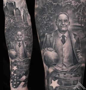 father of basketball-JamesNaismith-USA-theme-tattoo-basketbolls-tetovejums-riga-marispavlo-art