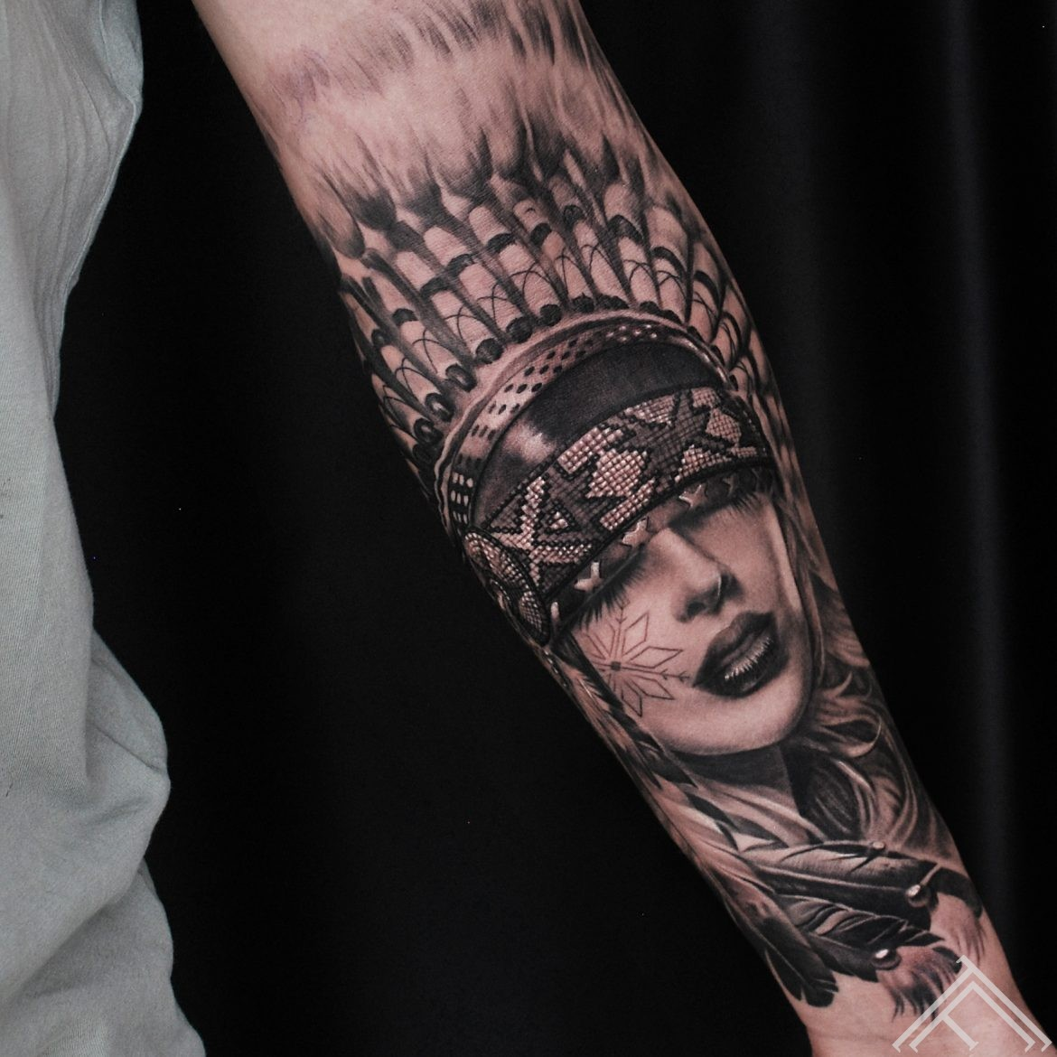 indian-tattoo-woman-tattoofrequency-native-auseklis-latviesuzimes