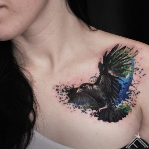 putns-bird-spalsh-watercolor-raven-martinssilins-tattoofrequency-riga-art