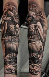 sailing-pirate-ship-tattoo-tattoofrequency-marispavlo