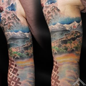 turkey_latvia_symbol_mountains_tattoo_andersonstattoo-tattoofrequency 2