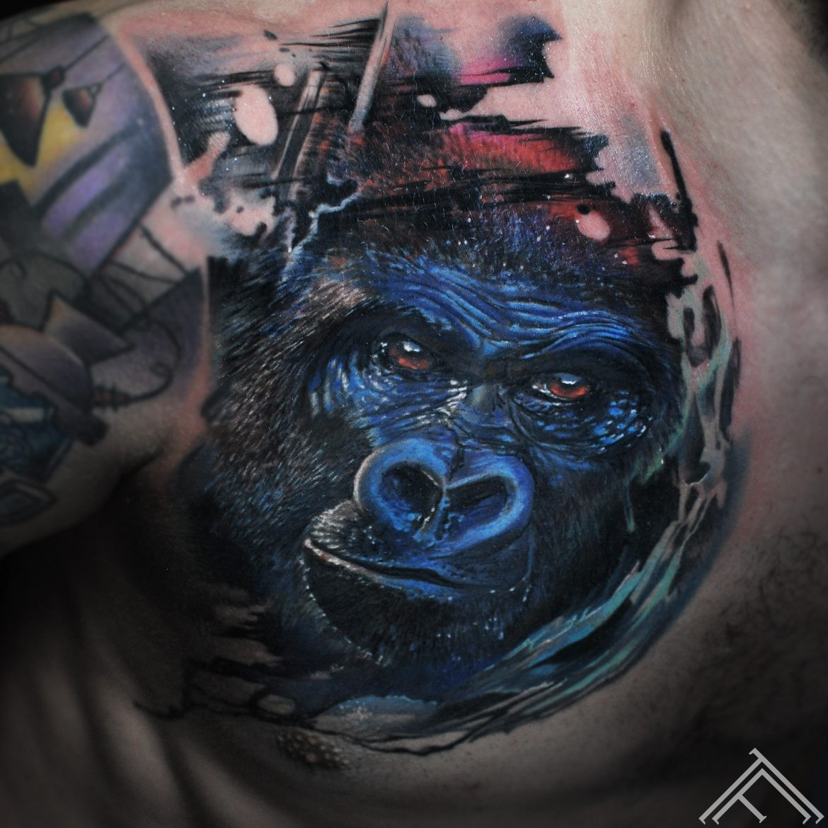 gorilla-monkey-animal-realistic-realistictattoo-nature-tattoo-tattoofequency-riga-art-marispavlo