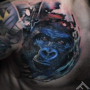 gorilla-monkey-animal-realistic-realistictattoo-nature-tattoo-tattoofequency-riga-art-marispavlo