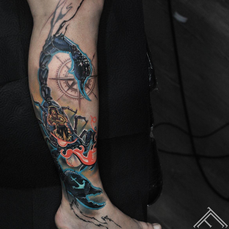 sailorjerry-sailor-pirate-scorpion-compass-ancor-skorpions-jurnieks-zvejnieks-copmanis-barmenis-rums-rum-tattoo-tetovejums-tattoofrequency-riga-art-
