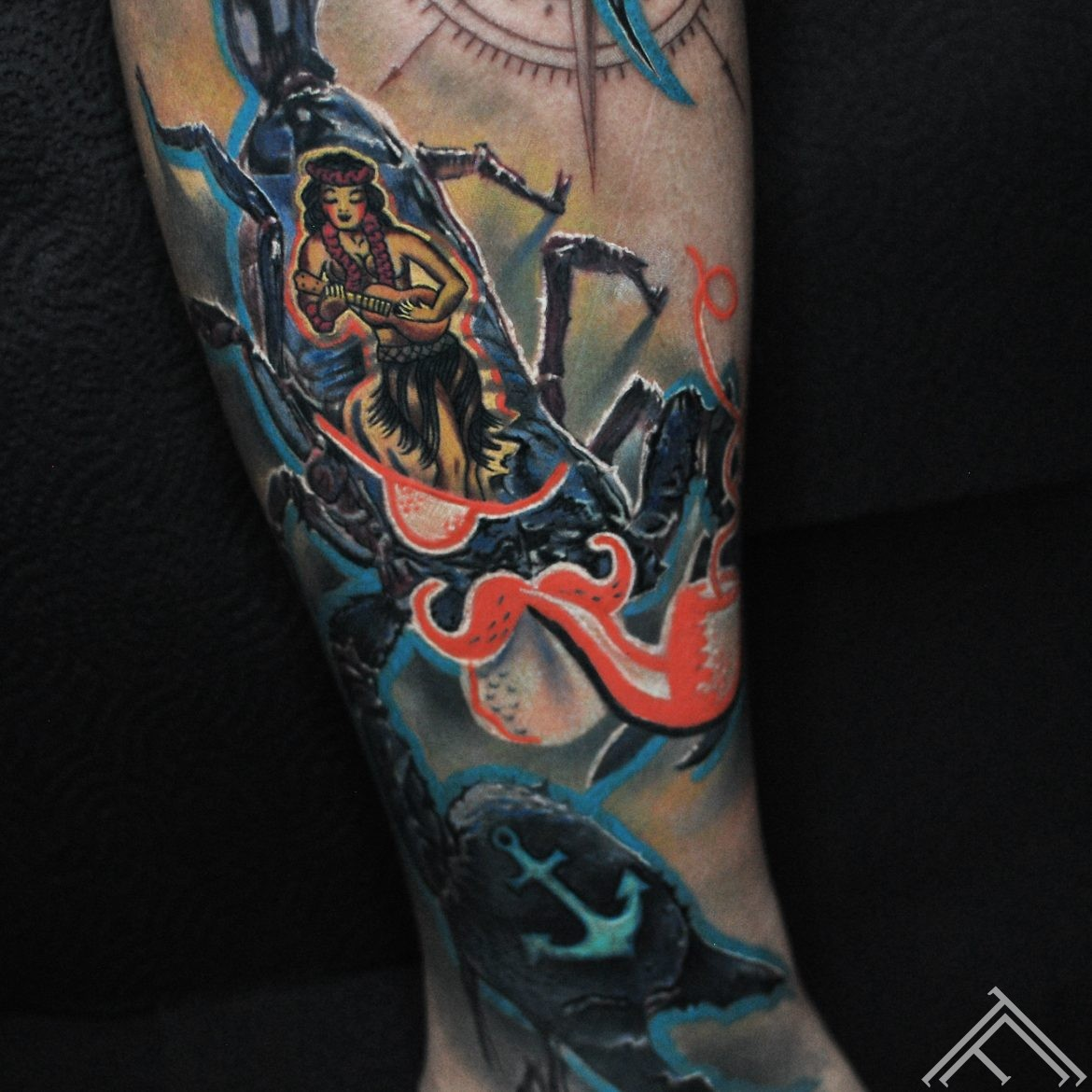 sailorjerry-sailor-pirate-scorpion-compass-ancor-skorpions-jurnieks-zvejnieks-copmanis-barmenis-rums-rum-tattoo-tetovejums-tattoofrequency-riga-art-closeup-